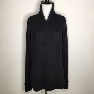 Lululemon Black Sweatshirt Top Size 12 Long Sleeve